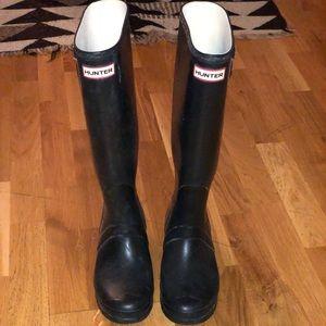 Hunter Rain Boots Black Size 9